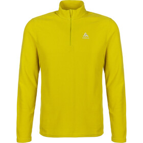 Odlo Roy Midlayer met 1/2 rits Heren, sunny lime/citronelle/stripes